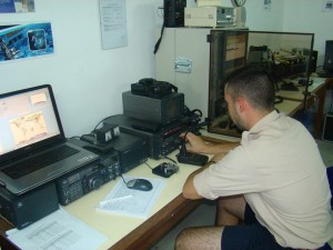 Posto de rádio do serviço de amador, a funcionar no radioescutismo