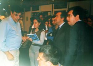 Primeiro Ministro António Guterres e Ministro da Ciência Mariano Gago na FIL em 1999, na apresentação do Observatório Aeroespacial de Oeiras