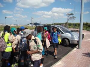 Chegada das patrulhas em deslocamento
