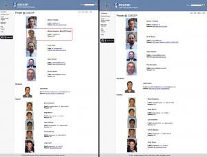 Imagens da página web do IST, quando em 2015 os professores do IST excluem o promotor e autor do projecto do CS5CEP que foi instalado e se encontra encerrado dentro do IST-Tagus