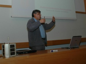 Autor do projecto do CS5CEP durante a sua apresentação a alunos e professores do IST no ano de 2005.
